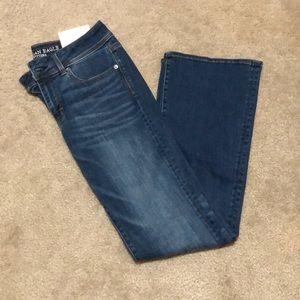 American Eagle Kick Boot Dark Jean
